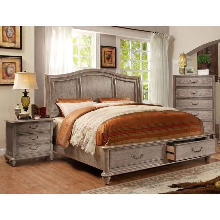 Best 25 rustic bedroom sets ideas on pinterest for Furniture of america hilande rustic farmhouse dark walnut bed