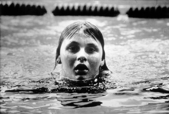 Swimmer Shane Gould during the 200m freestyle event at the Munich Olympic Games in 1972.  She became Australia's most successful competitor at any Olympics, winning three gold, 1 silver & 1 bronze.  At 15 she also became Australia's youngest ever gold medalist