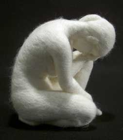 needle felted sculpture by stephanie metz