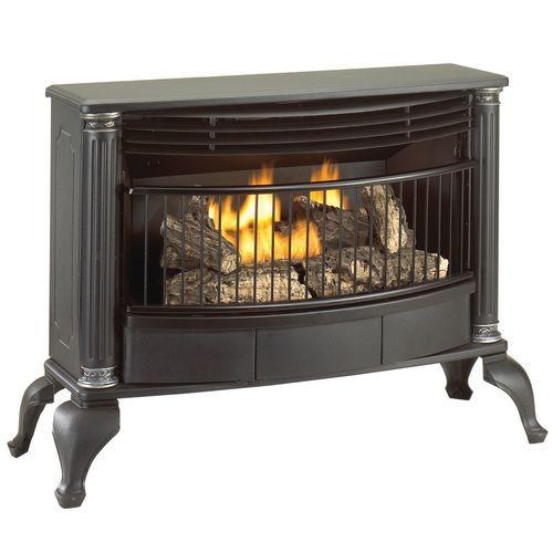 propane gas log fireplace. Cedar Ridge Hearth Ventless Natural Gas or Liquid Propane Stove  25 000 BTU T Stat Model CRHQD250TA Best gas logs ideas on Pinterest log fireplace