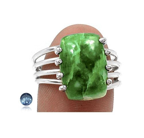 Sz 7.5, RARE Special Genuine Green JADE Square Gemstone, 925 Solid Sterling Silver Ring Jewellery! by AmeogemJewellery on Etsy