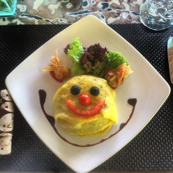 Children Menu - Nasi Goreng, fried rice with chicken, vegetables and ommelete