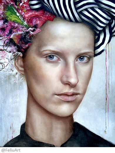 Valeria Feliú - What we see is not what we see, but what we are. (Fernando Pessoa) – Oil painting