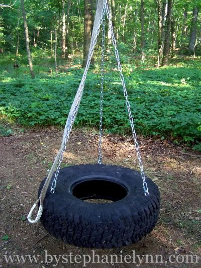 Recycled tire swing - DIY - I had one of these as
