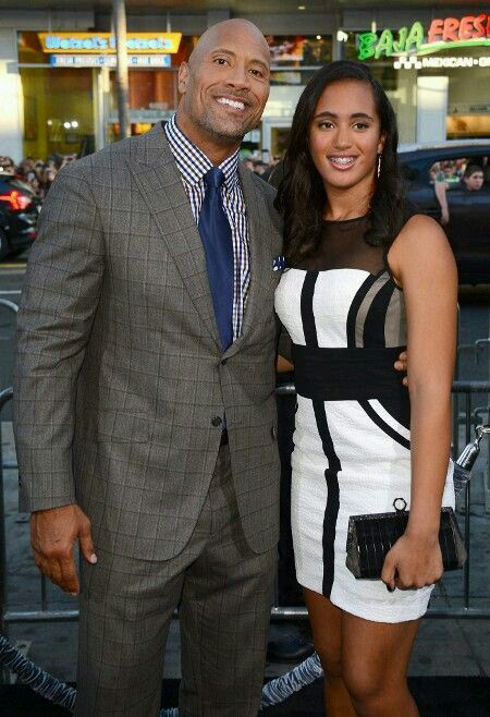 Dwayne Johnson And Simone The Hercules Star Who Spent 8 Months Getting In Shape For Role Poses With His Daughter