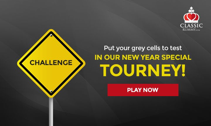 Put your grey cells to test. Take up the CLASSIC RUMMY CHALLENGE and Win Rs. 31 lakhs in our New Year Special tourney! Play Now!   #rummy #classicrummy #rummytournaments #tournaments #challenge #newyear #play #rummyonline #playrummy