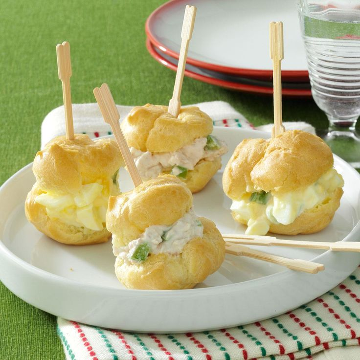Party Puffs Recipe -For a substantial appetizer, you can't go wrong with mini sandwiches. Instead of serving egg or ham salad on ordinary bread, I like to present them on homemade puff pastry.—Karen Owen, Rising Sun, Indiana