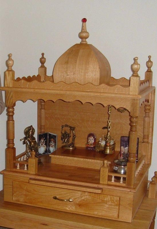 Wooden Mandir Diy And Home Decor Pinterest