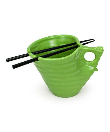 Another great find on #zulily! Snow Pea Udon Noodle Bowl & Chopsticks ...