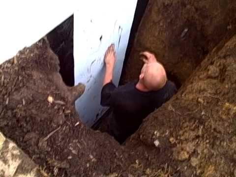 repair exterior wall crack leaking foundation crack basement water