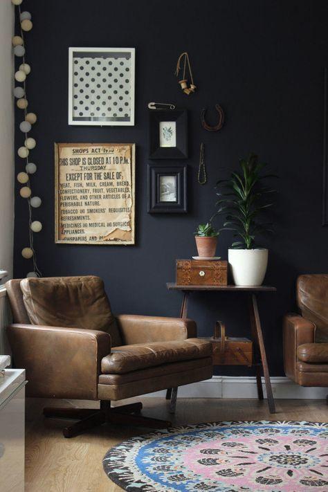 groß Black et Mat • Wohnzimmer Einrichtung Dekoration
