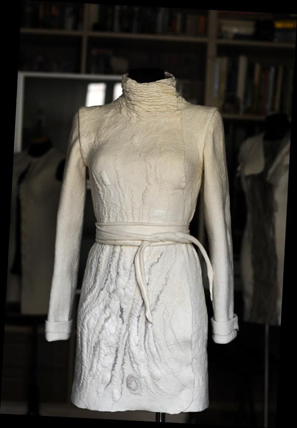Diana Sermon wet-felted coat