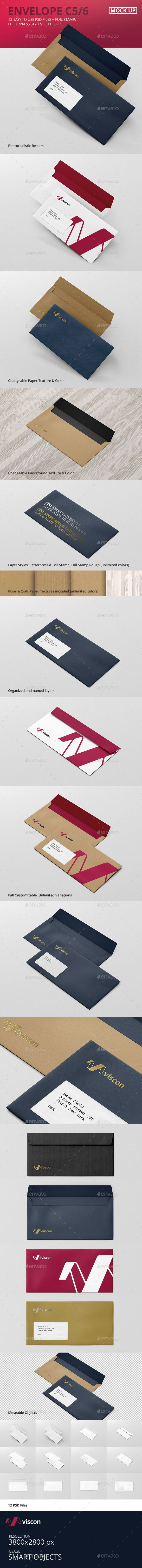 Envelope C5 / 6 Mock-Up (Stationery)