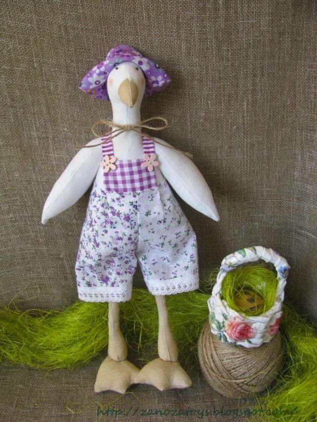 Tilda Easter Goose DIY (Тильда Гусь пасхальный. Мастер-класс)
