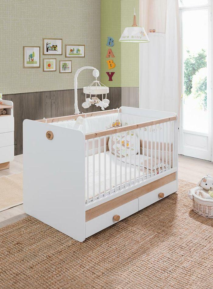 Popular babybett kaufen turbobeds wei holzakzente babyzimmer gestalten wanddeko