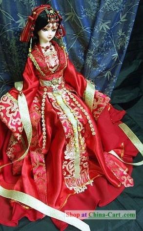 Ancient Chinese Princess Wedding Dress And Hair