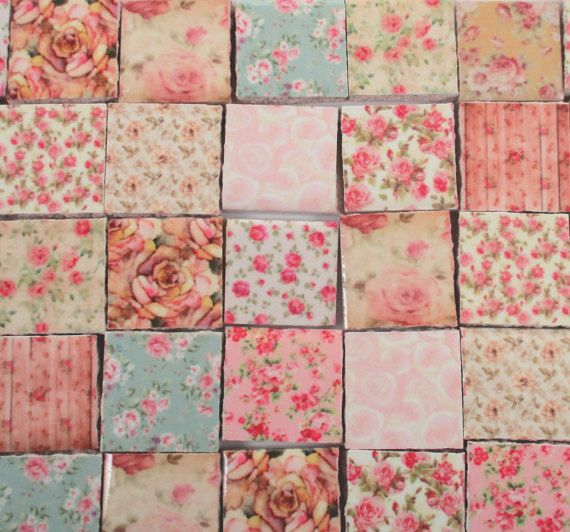 260 best mosaic tiles images on pinterest mosaic mosaic for Shabby chic wall tiles