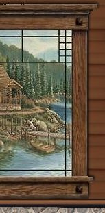 camping bear theme bedroom decorating ideas - cabin in the woods themed bedroom decorating ideas - rustic mountain cabin decorating - cabin in the woods themed bedroom decorating ideas Cabin By The Lake