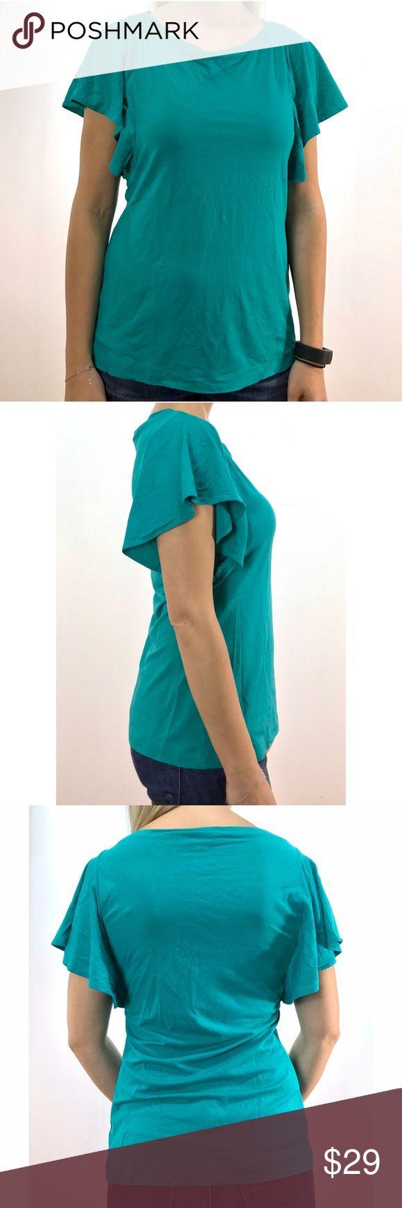 Banana Republic Stretch Teal Tshirt This preloved size S Stretch Teal tshirt features oversized short sleeves. Preloved items have normal wear and tear. 91% rayon; 9% spandex. Banana Republic Tops Tees - Short Sleeve