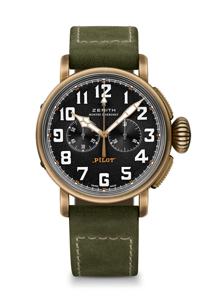 TimeZone : Industry News » Pre-Basel 2017 - Zenith Heritage Pilot Extra Special Bronze Chronograph