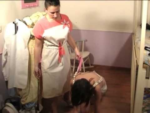 Adult diaper punishments video