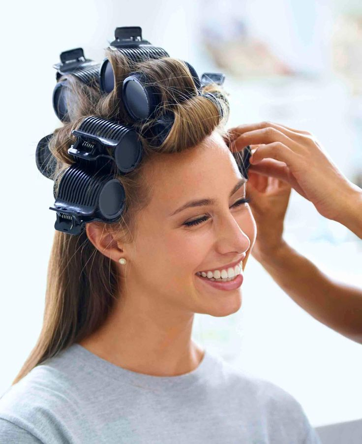 heated rollers technique