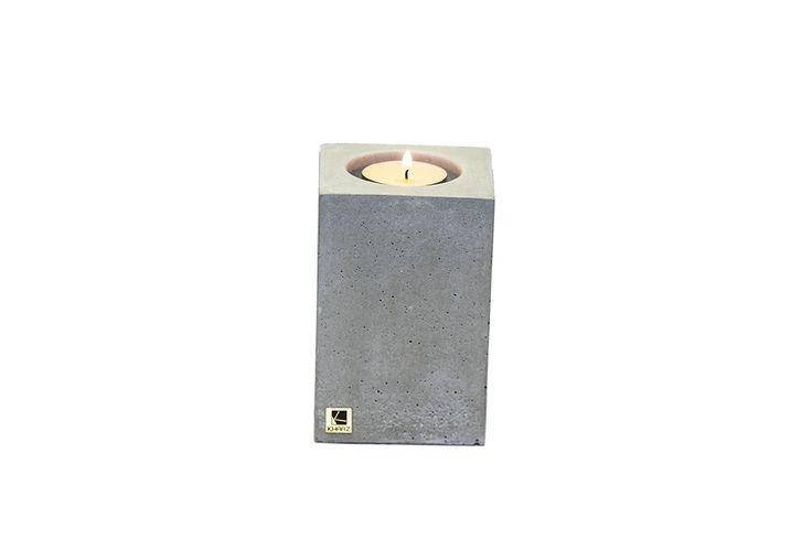Świecznik Cobo Midi z betonu architektonicznego