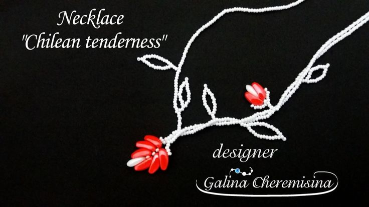 "DIY: Necklace ""Chilean tenderness"" [Video Tutorial]"