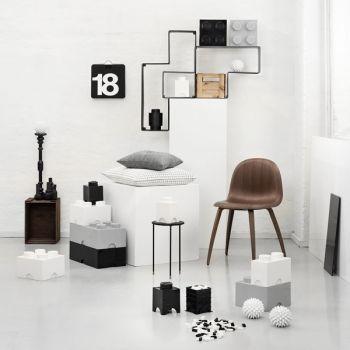 Room Copenhagen Lego Storage Brick 4, grey | Storage | Decoration | Finnish Design Shop