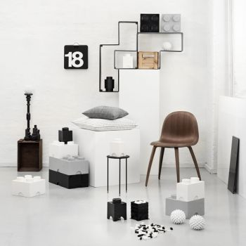Room Copenhagen Lego Storage Brick 4, grey | Storage | Decoration | Finnish Design Shop
