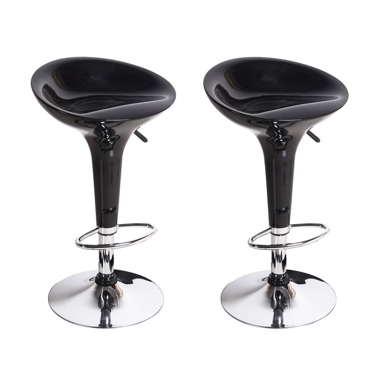 Bensbyn Black Modern Bar Stools (Set of two)