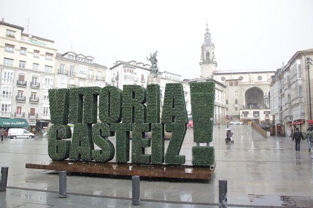 Escultura vegetal Vitoria.