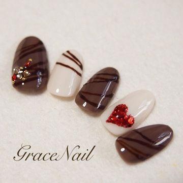 チョコレートネイル / GraceNail (GraceNail) のネイル