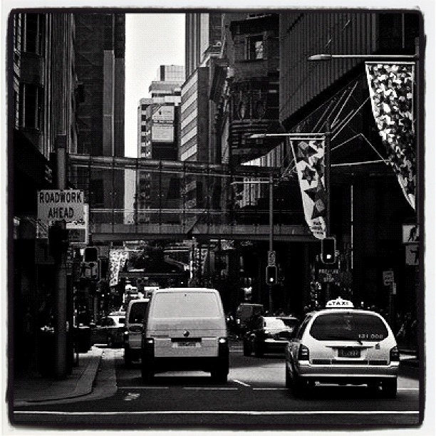 Sydney Streets. Like this cause it reminds of all those New York City streets shots.