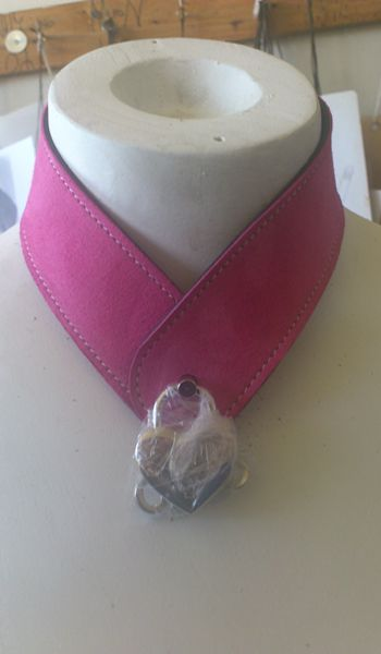 Pink Suede Collar