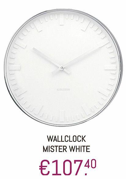 #Klok #Rond #White