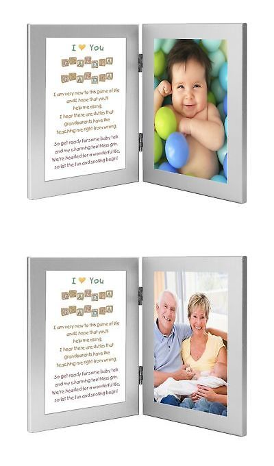 Baby Picture Frames 117392: Gift For Grandparents From Baby - Touching Poem Frame From Grandchild - Add P... -> BUY IT NOW ONLY: $35.91 on eBay!