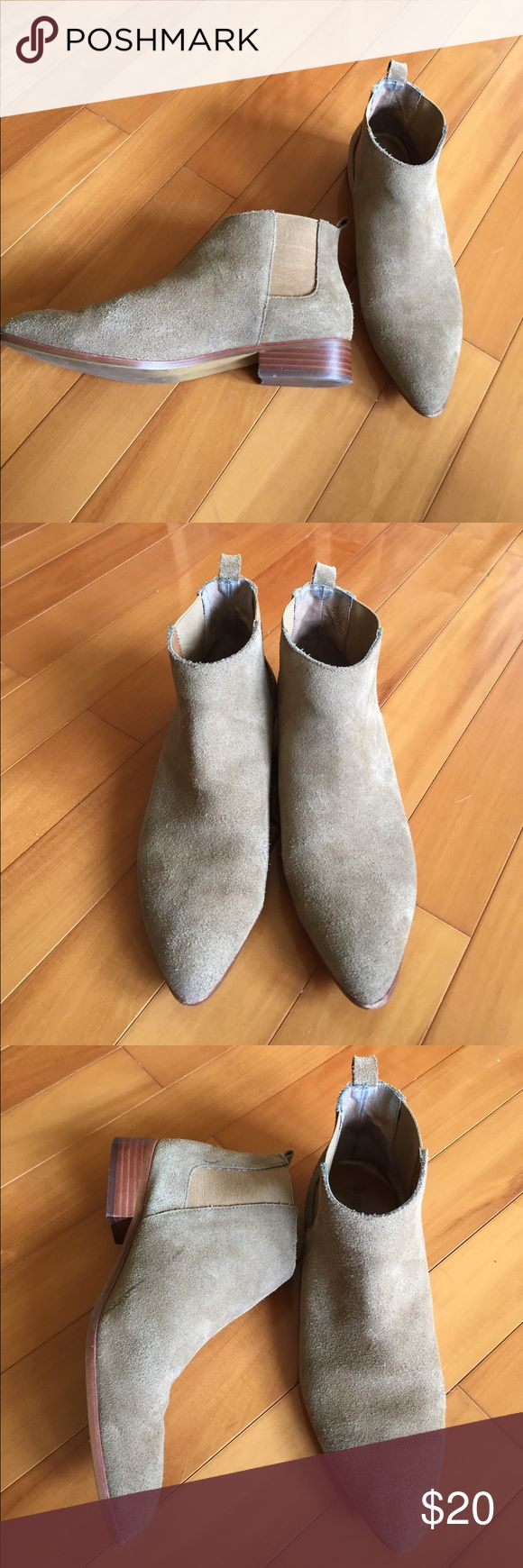 Gap Low Heel Bootie Real suede. Worn with some knicks and marks here and there. Still has a lot of life left! GAP Shoes Ankle Boots & Booties