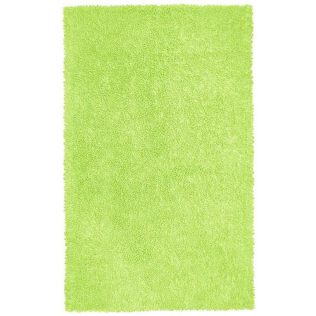 """St Croix Trading Hand-woven Chenille Green Shag Rug (2'6 x 4'2), Size 2'6"""" x 4'2"""""""