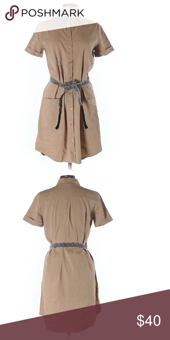 Theory Linen Shirt Dress Gently used. Excellent Condition. Theory Dresses