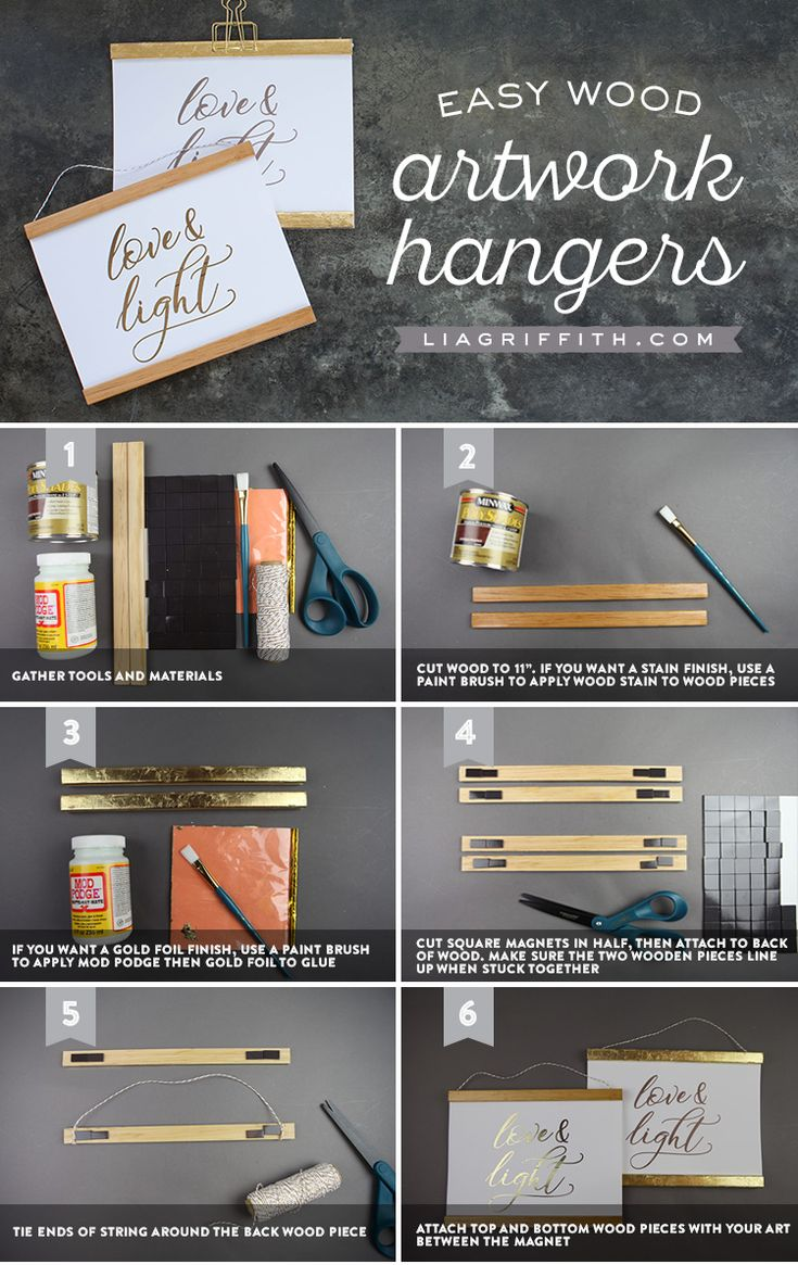 """Hanging on a Moment With You ❤️✨ You asked, we listened! In this post we've included everything you need to make your very own easy wood artwork hangers. We've also included the PDF download for you to print and frame some """"Love & Light"""" for your home https://liagriffith.com/easy-wood-artwork-hangers/ ⠀⠀⠀⠀⠀⠀⠀⠀⠀ *⠀⠀⠀⠀⠀⠀⠀⠀⠀ *⠀⠀⠀⠀⠀⠀⠀⠀⠀ *⠀⠀⠀⠀⠀⠀⠀⠀⠀ #art #wallart #printable #printables #loveandlight #easy #easydiy #diy #diyidea #diyideas #diycraft #diycrafts #diyproject #diyprojects #gold #paper…"""