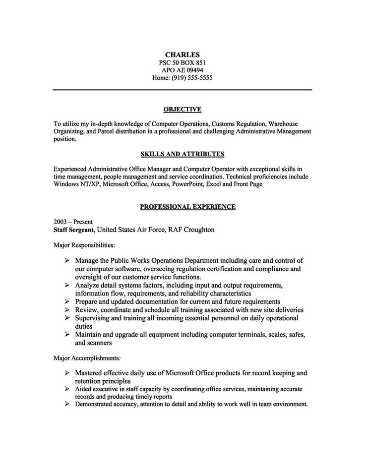 17 best basic resume images on Pinterest Resume templates, Cover - computer operator resume format