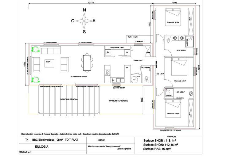 the 25 best plan maison ossature bois ideas on pinterest plans de maison ossature en bois. Black Bedroom Furniture Sets. Home Design Ideas