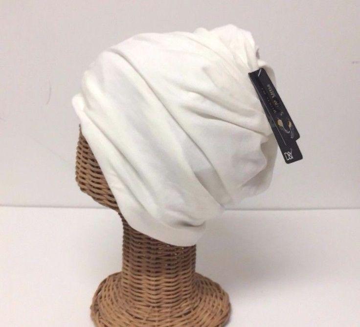 Lot Of Two Men Women Plain Knit Beanie Hats Winter Warm Caps Head Wrap Ivory