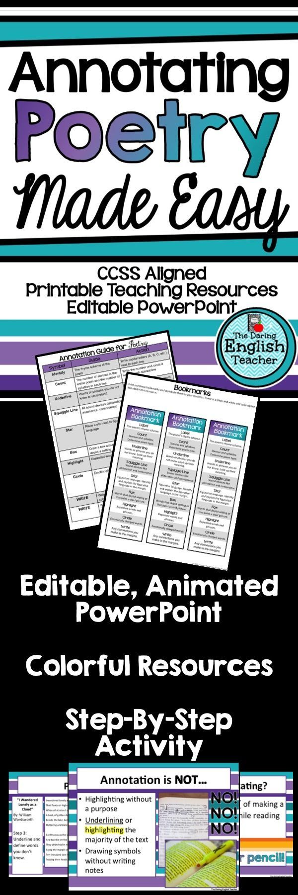 Teach your students how to annotate poetry with this step-by-step teaching resource.