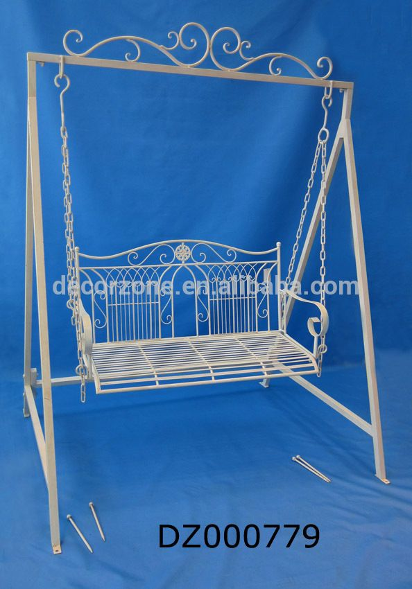 Luxury Metal/Iron Outdoor Garden/Park Bench Swing