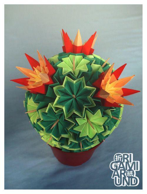 Venus kusudama cactus assembly.