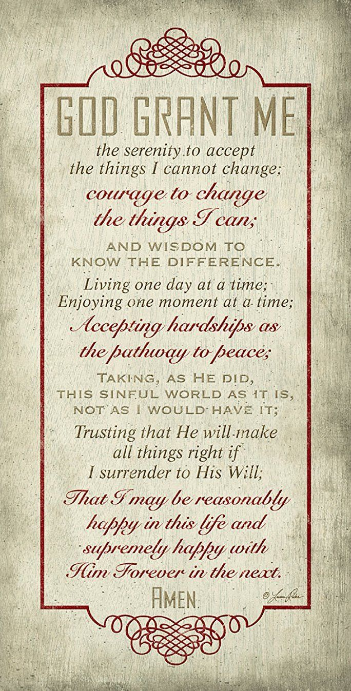 Best 25+ Serenity prayer quotes ideas on Pinterest | Full serenity ...