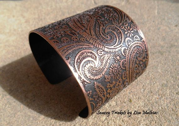 Hey, I found this really awesome Etsy listing at https://www.etsy.com/listing/150224702/paisley-floral-bracelet-cuff-etched