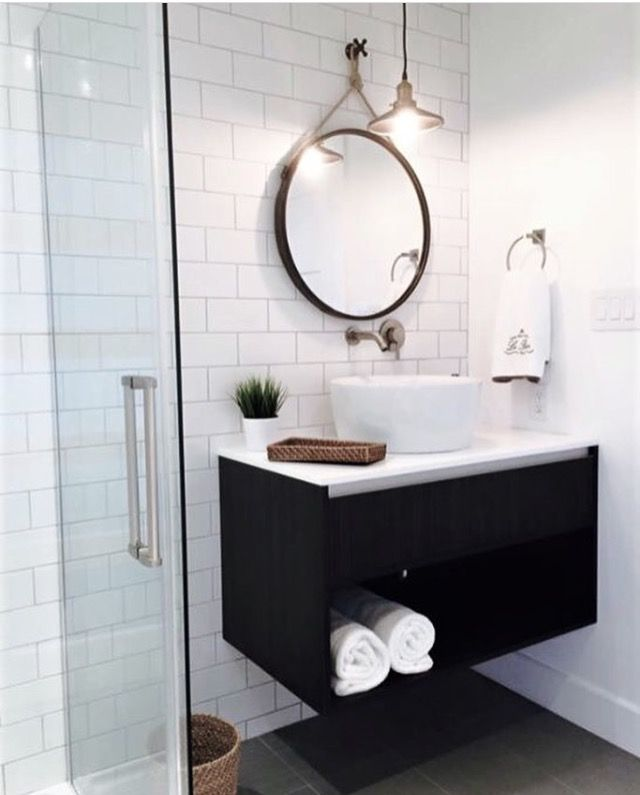Modern/industrial Bathroom With Floating Vanity, By Vision Design U0026  Solution. Part 67